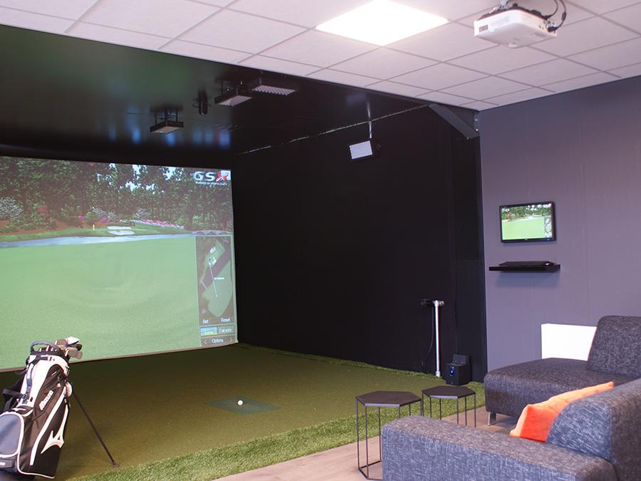 Simulator kooi op maat, Standaard simulator kooi, e6 golfconnect, skytrack, flightscope, x3 simulator, putt simulator (exputt) sportscoach systems, trugolf, Dutch Golf Company, indoorgolf, golfsimulator, golfprofessional, Goirle, Eindhoven