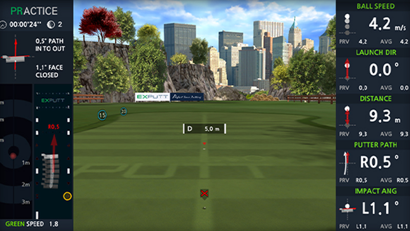 putt simulator (exputt) sportscoach systems, trugolf, Dutch Golf Company, indoorgolf, golfsimulator, golfprofessional, Goirle, Eindhoven